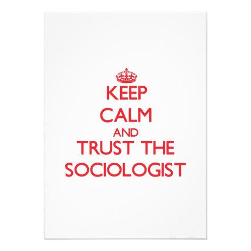 Keep Calm and Trust the Sociologist Custom Announcement