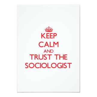 "Keep Calm and Trust the Sociologist 5"" X 7"" Invitation Card"