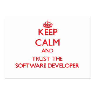 Keep Calm and Trust the Software Developer Business Cards
