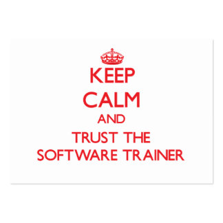 Keep Calm and Trust the Software Trainer Business Card