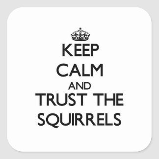 Keep calm and Trust the Squirrels Square Sticker