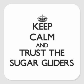 Keep calm and Trust the Sugar Gliders Square Sticker