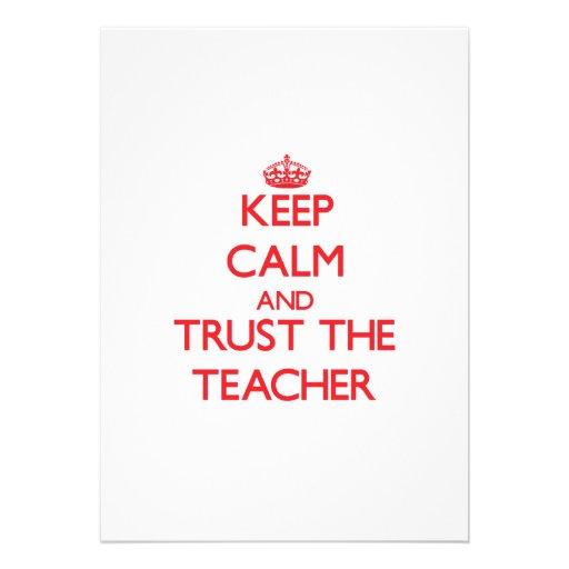 Keep Calm and Trust the Teacher Custom Announcements