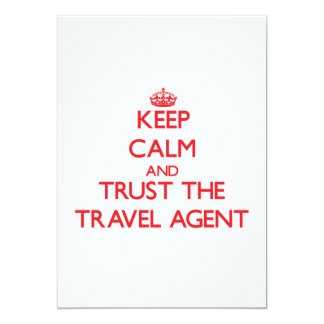 Keep Calm and Trust the Travel Agent Custom Invite