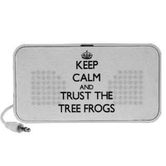Keep calm and Trust the Tree Frogs Portable Speakers