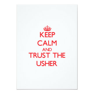 Keep Calm and Trust the Usher Card