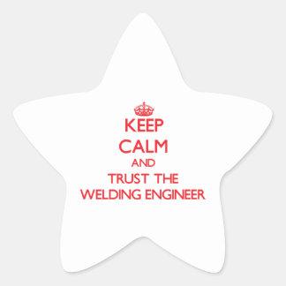 Keep Calm and Trust the Welding Engineer Star Sticker