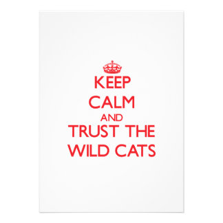 Keep calm and Trust the Wild Cats Cards