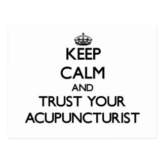Keep Calm and Trust Your Acupuncturist Postcards