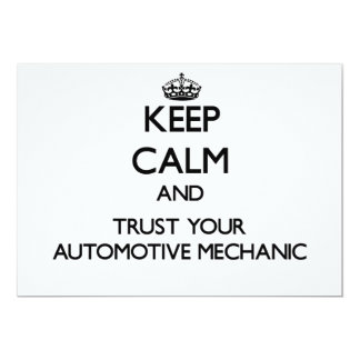 Keep Calm and Trust Your Automotive Mechanic Announcements