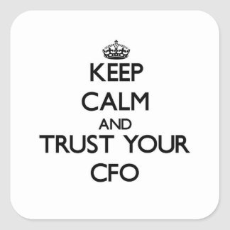 Keep Calm and Trust Your Cfo Square Sticker