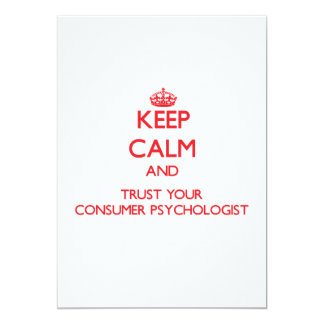 Keep Calm and trust your Consumer Psychologist Personalized Announcements