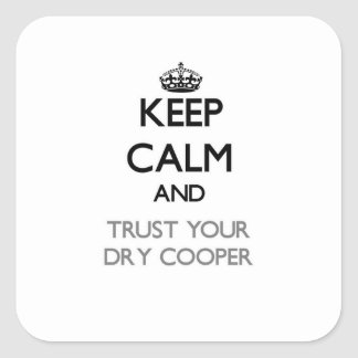 Keep Calm and Trust Your Dry Cooper Square Sticker