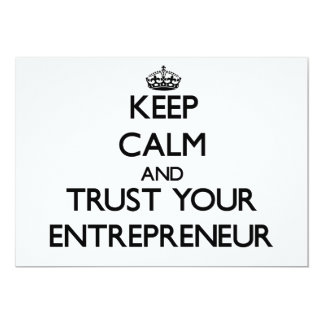 Keep Calm and Trust Your Entrepreneur 13 Cm X 18 Cm Invitation Card