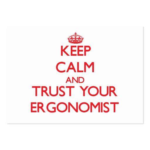 Keep Calm and Trust Your Ergonomist Business Card Templates