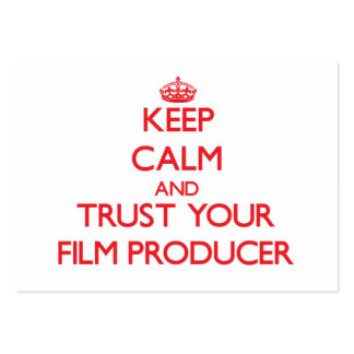 Keep Calm and Trust Your Film Producer Pack Of Chubby Business Cards