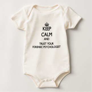 Keep Calm and Trust Your Forensic Psychologist Baby Bodysuit