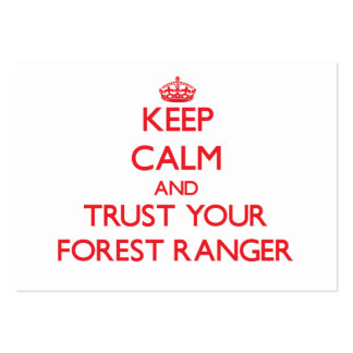 Keep Calm and Trust Your Forest Ranger Pack Of Chubby Business Cards