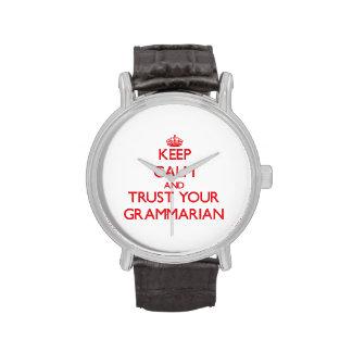 Keep Calm and trust your Grammarian Wristwatch