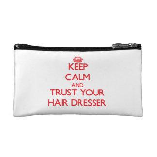 Keep Calm and trust your Hair Dresser Makeup Bag