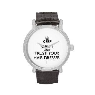 Keep Calm and Trust Your Hair Dresser Wristwatch