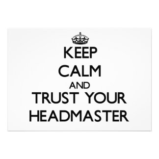 Keep Calm and Trust Your Headmaster Invitations