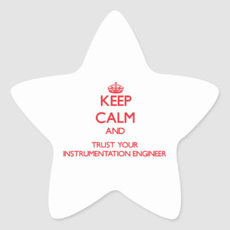 Keep Calm and Trust Your Instrumentation Engineer Star Sticker