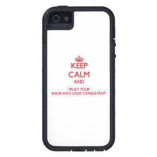 Keep Calm and trust your Insurance Sales Consultan iPhone 5 Cover