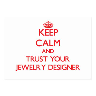 Keep Calm and Trust Your Jewelry Designer Business Card Templates