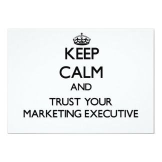 Keep Calm and Trust Your Marketing Executive Cards