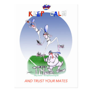 keep calm and trust your mates, tony fernandes postcard