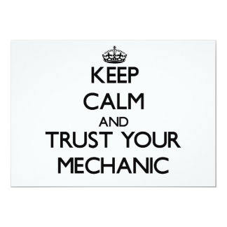 Keep Calm and Trust Your Mechanic Announcements