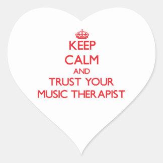 Keep Calm and Trust Your Music arapist Heart Sticker