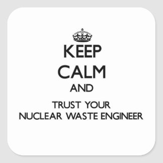 Keep Calm and Trust Your Nuclear Waste Engineer Square Sticker