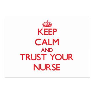 Keep Calm and Trust Your Nurse Business Card Template