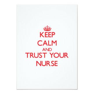 Keep Calm and trust your Nurse Invite