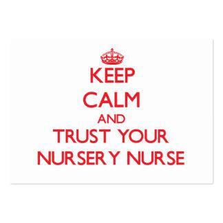 Keep Calm and Trust Your Nursery Nurse Business Card Templates