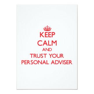 Keep Calm and trust your Personal Adviser 13 Cm X 18 Cm Invitation Card
