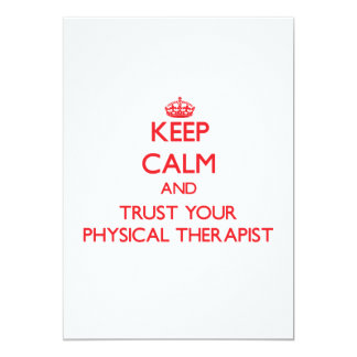 Keep Calm and trust your Physical Therapist Personalized Announcement