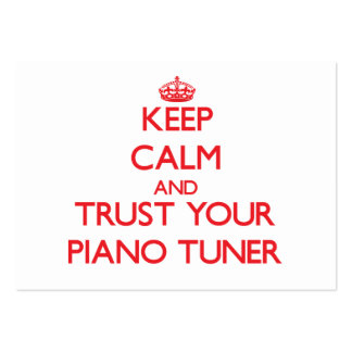 Keep Calm and Trust Your Piano Tuner Business Card Templates