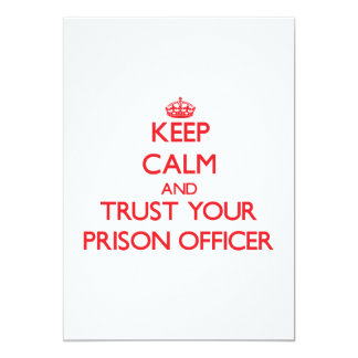 Keep Calm and trust your Prison Officer Personalized Announcements