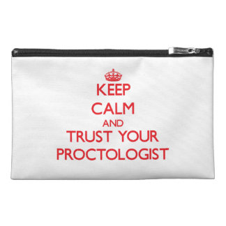 Keep Calm and trust your Proctologist Travel Accessories Bag