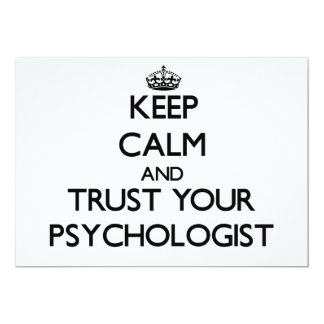 Keep Calm and Trust Your Psychologist Personalized Invites