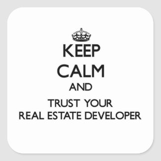 Keep Calm and Trust Your Real Estate Developer Stickers