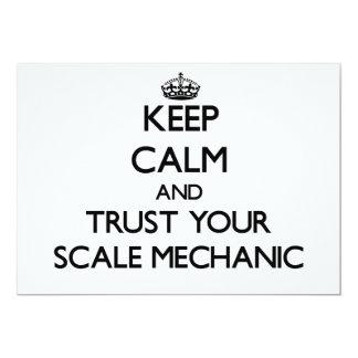Keep Calm and Trust Your Scale Mechanic Custom Invitations