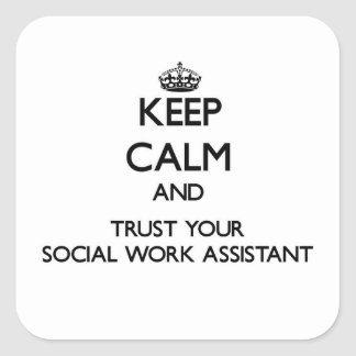 Keep Calm and Trust Your Social Work Assistant Sticker