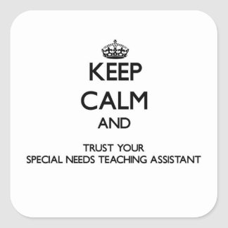 Keep Calm and Trust Your Special Needs Teaching As Sticker