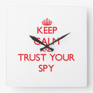 Keep Calm and trust your Spy Wall Clocks