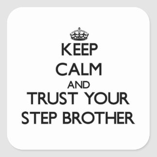 Keep Calm and Trust your Step-Brother Stickers