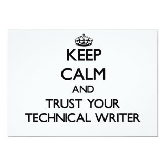Keep Calm and Trust Your Technical Writer Custom Invite